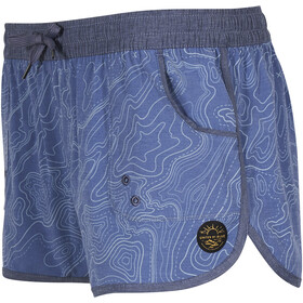 United By Blue Topography Pantaloncini sport acquatici Donna, blue
